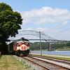 The Scenic Train rolls along Cape Cod Canal, 7-13-19.