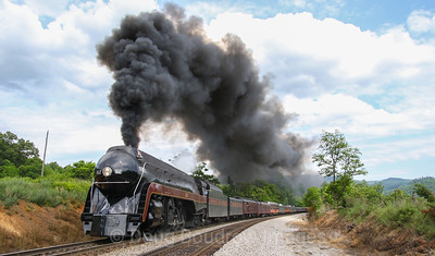 N&W 611 on Blue Ridge and Christiansburg Districts, Memorial Day Weekend 2017