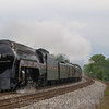 "The ""Powhatan Arrow"" highballs West on the Blue Ridge District headed for Lynchburg and return, 5-28-17."