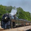 "The ""Powhatan Arrow"" heads West through Bedford on the first of six excursions out of Roanoke for Memorial Day Weekend 2017. The 611 will take 2 trips to Lynchburg and 4 trips to Walton in these three days, 5-27-17."