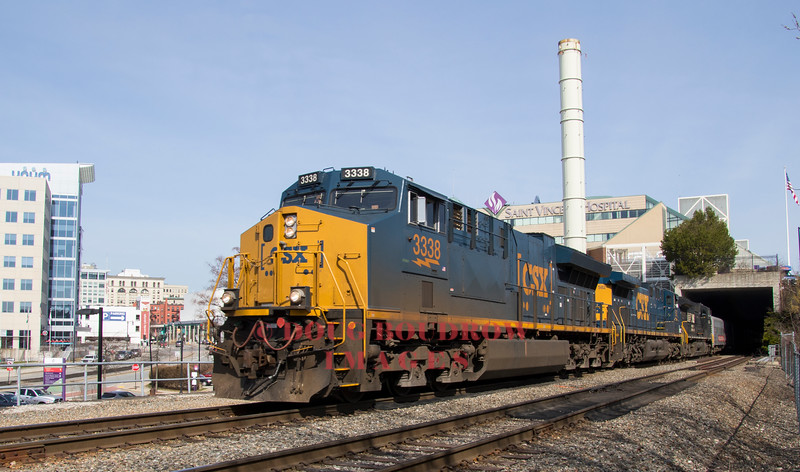 For the final time in its storied career, the Ringling Brothers and Barnum & Bailey Circus train arrives in Worcester with a P&W crew using a mix of CSX and NS power, 4-11-17.
