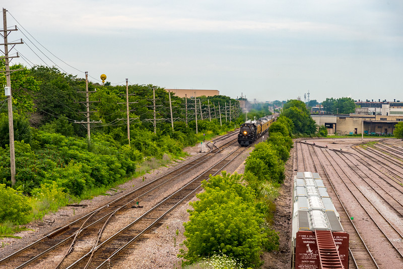 It is a small freight interchange yard along the UP's Milwaukee subdivision.