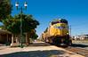 Fast freight through Lodi.<br /> <br /> Lodi April 30, 2010 #13-Edit