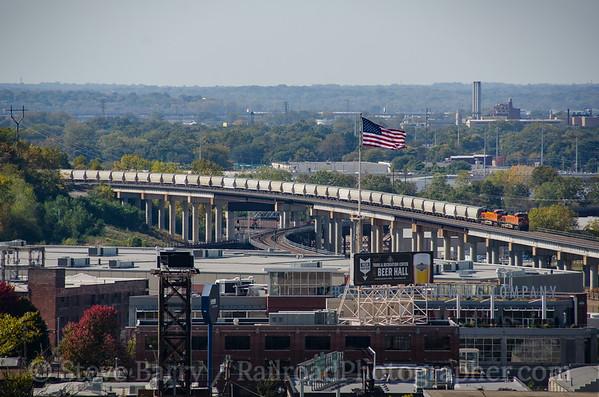 Photo 3969 BNSF Railway; Santa Fe Junction, Kansas City, Missouri October 16, 2016