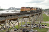 Photo 1211<br /> BNSF Railway (on New Orleans Public Belt); Huey P. Long Bridge, New Orleans, Louisiana<br /> June 11, 2008