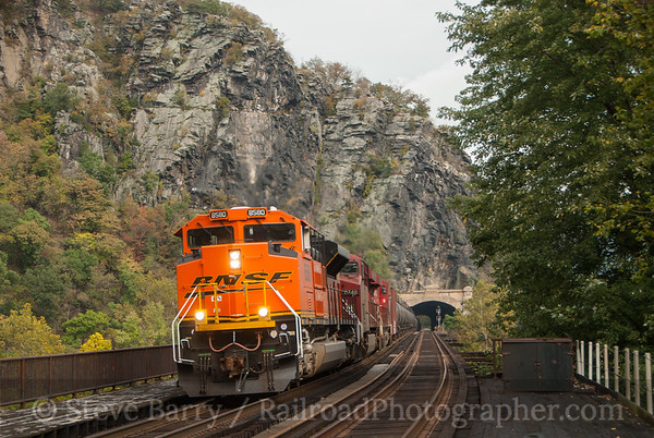 Photo 3230 BNSF Railway (on CSX); Harpers Ferry, West Virginia October 11, 2014
