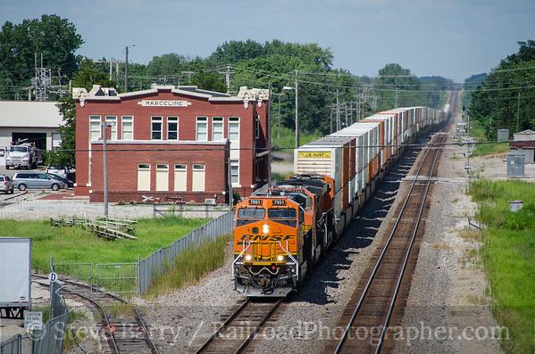 Photo 3444 BNSF Railway; Marceline, Missouri August 12, 2015