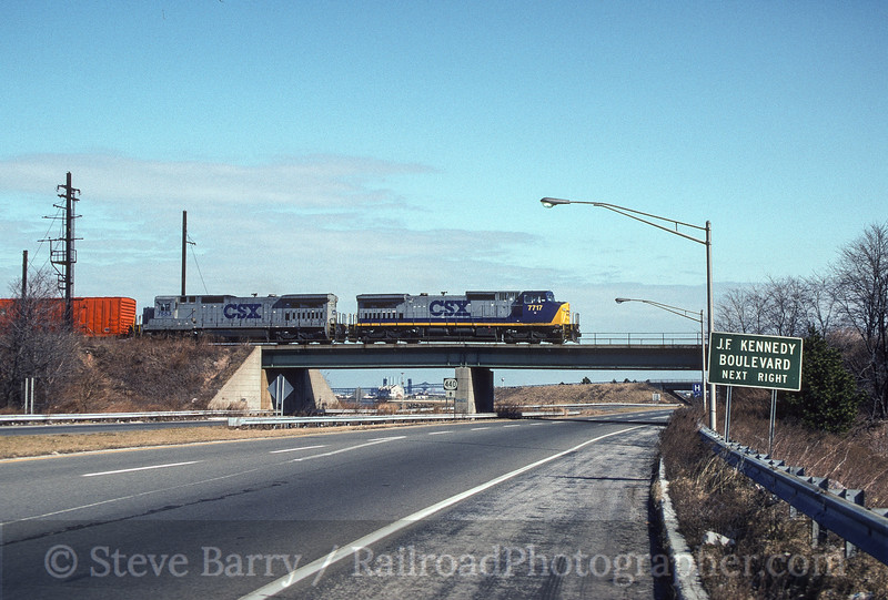 Photo 4093<br /> CSX Transportation; Jersey City, New Jersey<br /> February 1992