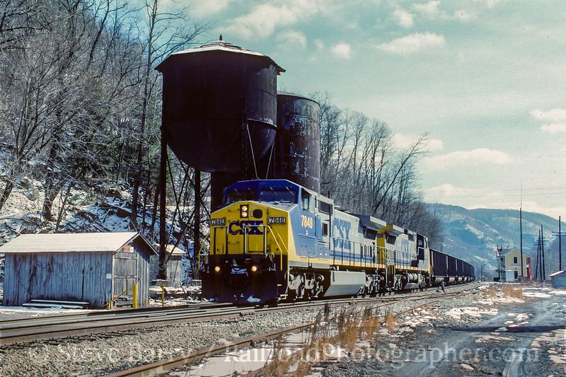 Photo 4141<br /> CSX Transportation; Thurmond, West Virginia<br /> February 18, 1996