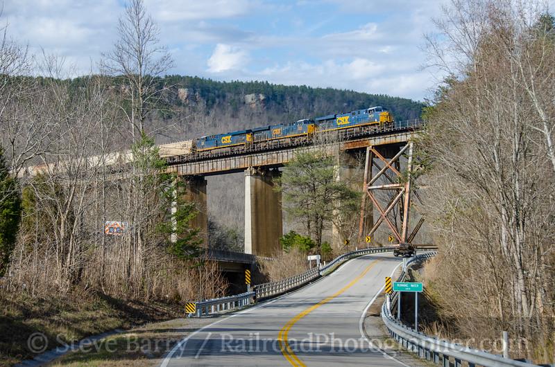 Photo 3663<br /> CSX Transportation; Whiteside, Tennessee<br /> February 3, 2016