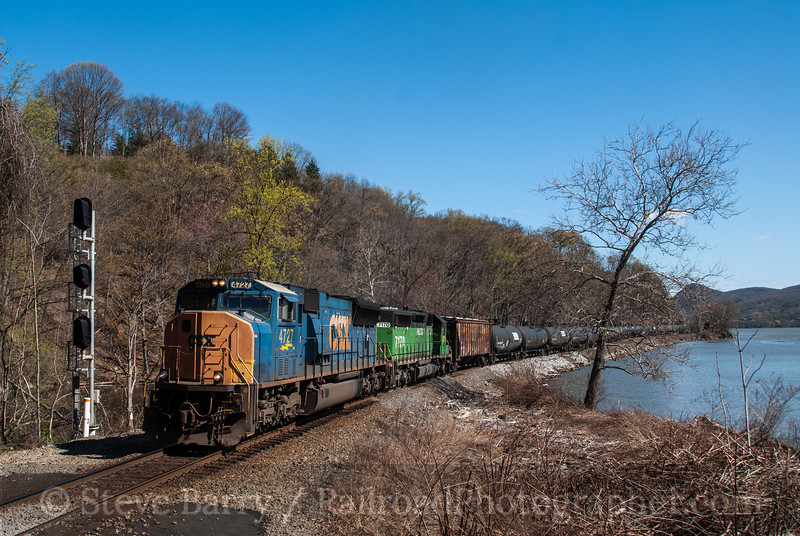 Photo 2683<br /> CSX Transportation; Fort Montgomery, New York<br /> April 6, 2012