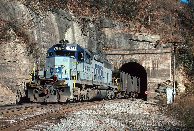 Photo 2868<br /> CSX Transportation; Sykes Mill Tunnel, Clinchco, Virginia<br /> November 1990