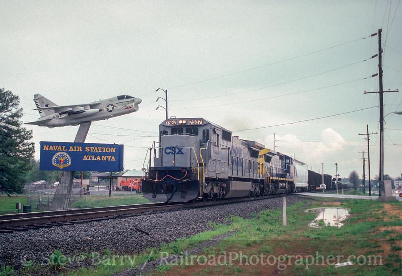 Photo 2869<br /> CSX Transportation; NAS Atlanta, Fair Oaks, Georgia<br /> April 1992