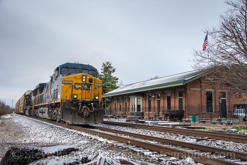 Photo 4627<br /> CSX Transportation<br /> Glendale, Ohio<br /> April 7, 2017
