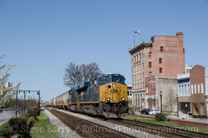 Photo 3363<br /> CSX Transportation; Rocky Mount, North Carolina<br /> April 4, 2015