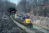 Photo 5219<br /> CSX Transportation (on Conrail)<br /> White Haven, Pennsylvania<br /> March 1991