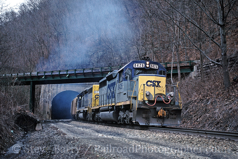Photo 1159<br /> CSX Transportation; Stretcher Neck Tunnel, Prince, West Virginia<br /> February 19, 1995