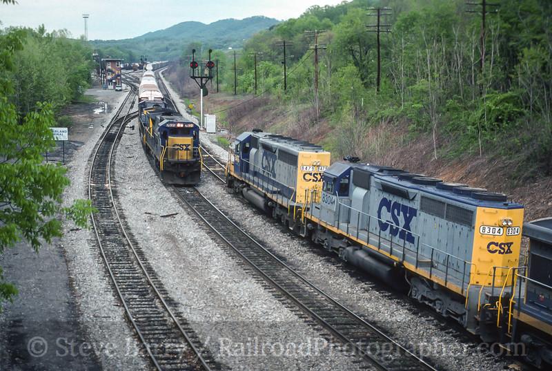 Photo 3524<br /> CSX Transportation; Mexico, Cumberland, Maryland<br /> May 1, 1993