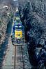Photo 5419<br /> CSX Transportation (on Conrail)<br /> Solomon Gap, Pennsylvania<br /> March 1991