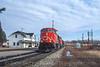 Photo 4513<br /> Canadian National<br /> Hervey-Jonction, Quebec<br /> April 2000