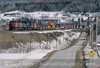 Photo 3570<br /> Canadian National<br /> Estcourt, Pohénégamook, Quebec<br /> April 2001
