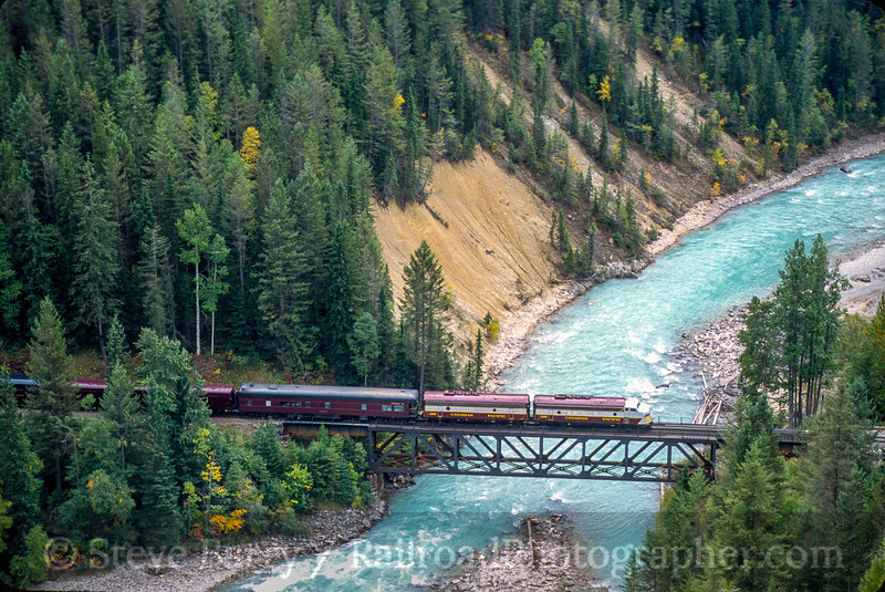 Photo 5373<br /> Royal Canadian Pacific<br /> Golden, British Columbia<br /> September 2000