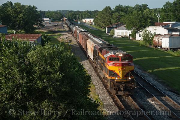 Photo 3183 Kansas City Southern; Gentry, Arkansas June 16, 2014