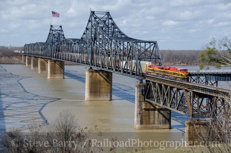 Photo 3656<br /> Kansas City Southern; Vicksburg, Mississippi<br /> January 31, 2016