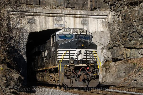 Photo 3608 Norfolk Southern; Hemphill, West Virginia November 23, 2015