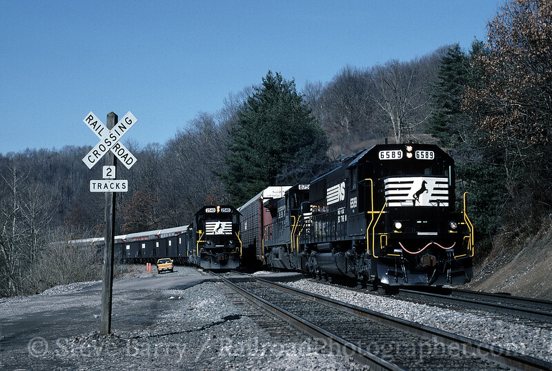 Photo 1058<br /> Norfolk Southern; Falls Mills, West Virginia<br /> February 18, 1995