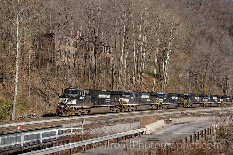 Photo 3607<br /> Norfolk Southern; Eckman, West Virginia<br /> November 23, 2015