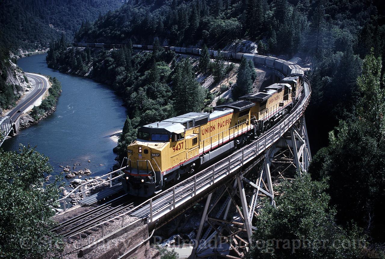 Photo 0648<br /> Union Pacific; Rock Creek, California<br /> July 20, 1992