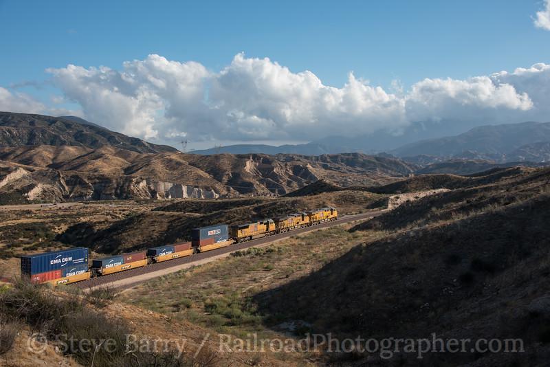 Photo 4329<br /> Union Pacific<br /> Cajon Pass, California<br /> September 21, 2017