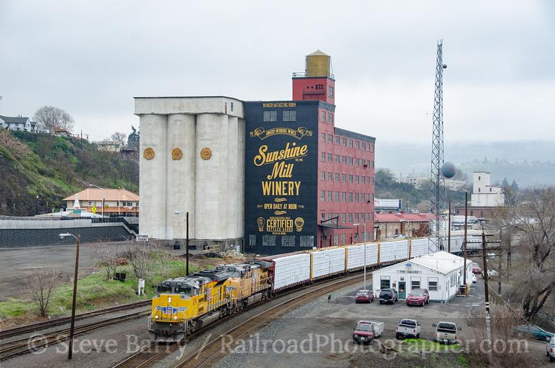 Photo 3712<br /> Union Pacific; The Dalles, Oregon<br /> March 21, 2016