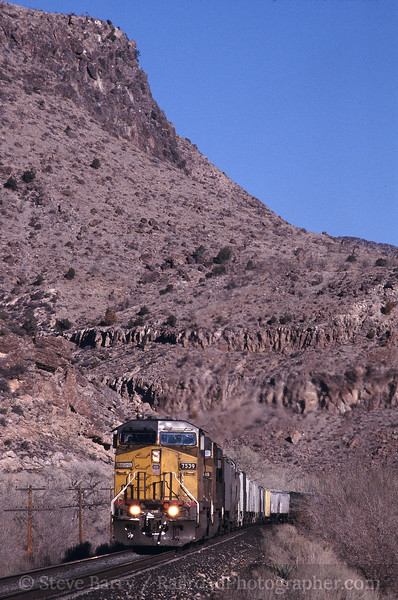 Photo 0820<br /> Union Pacific; Rainbow Canyon, Elgin, Nevada<br /> February 2003
