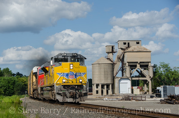 Photo 3445 Union Pacific (on BNSF); Marceline, Missouri August 12, 2015