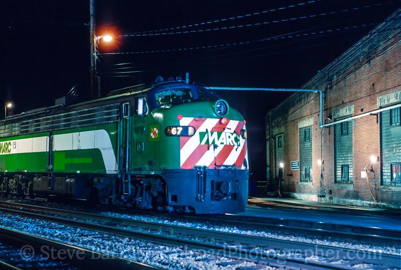 Photo 4739<br /> Maryland Area Rail Commuter<br /> Brunswick, Maryland<br /> April 1994