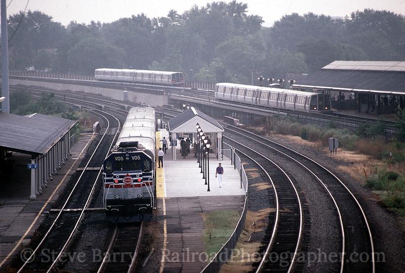 Photo 0568<br /> Virginia Railway Express and Washington Metro; Alexandria, Virginia<br /> September 4, 1992