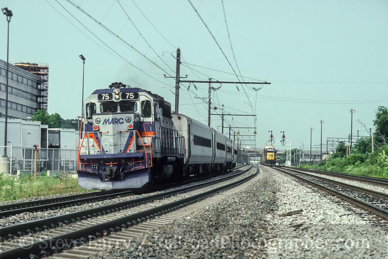 Photo 5097<br /> Maryland Area Rail Commuter<br /> Washington, D.C.<br /> July 1992