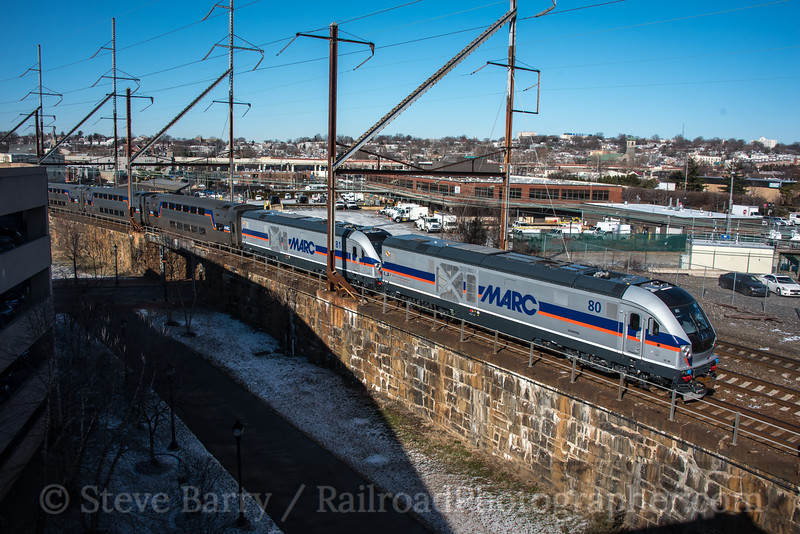 Photo 4498<br /> Maryland Area Rail Commuter<br /> Wilmington, Delaware<br /> January 18, 2018