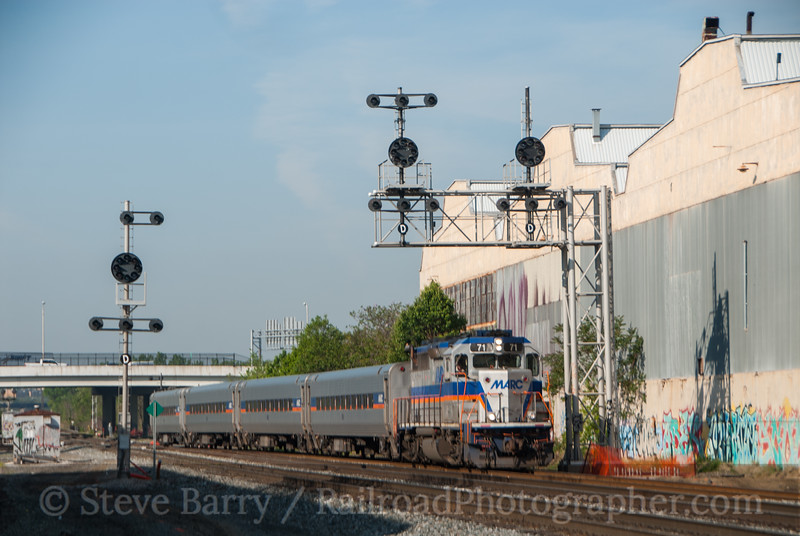 Photo 2606<br /> Maryland Area Rail Commuter; Bush Street, Baltimore, Maryland<br /> April 20, 2012