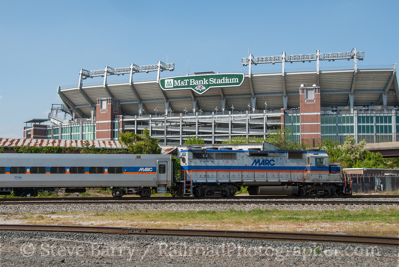 Photo 2603<br /> Maryland Area Rail Commuter; Baltimore, Maryland<br /> April 20, 2012