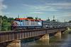Photo 0309<br /> Metra; Fox River Bridge, Elgin, Illinois<br /> July 21, 1993