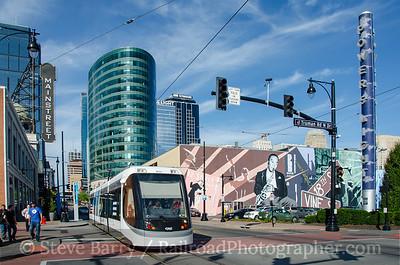 Photo 3970 KC Streetcar; Power & Light District, Kansas City, Missouri October 16, 2016