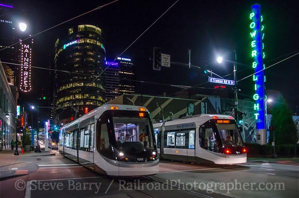 Photo 3973 KC Streetcar; Power & Light District, Kansas City, Missouri October 16, 2016