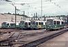 Photo 2850<br /> Massachusetts Bay Transportation Authority; Riverside Yard, Newton, Massachusetts<br /> July 1986