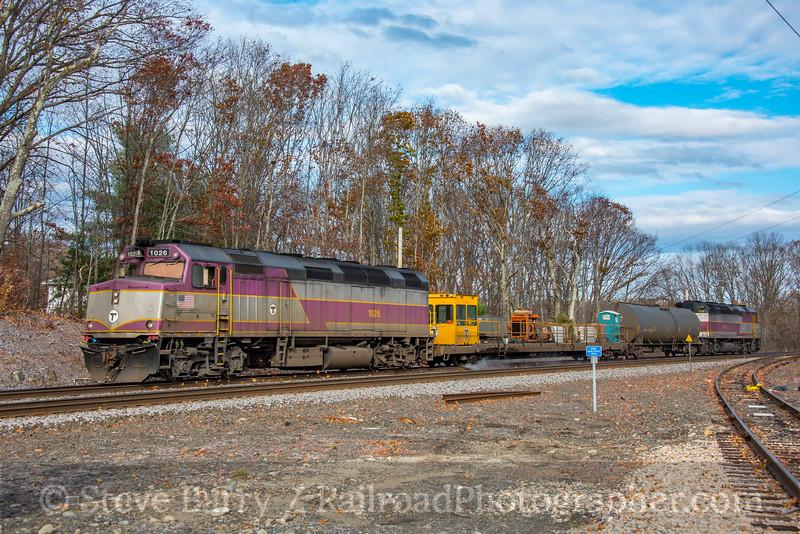 MBTA; North Grafton MA; 11/10/19