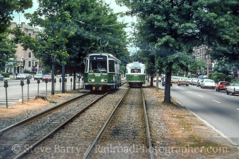 Photo 4521<br /> Massachusetts Bay Transportation Authority<br /> Brookline, Massachusetts<br /> August 1986