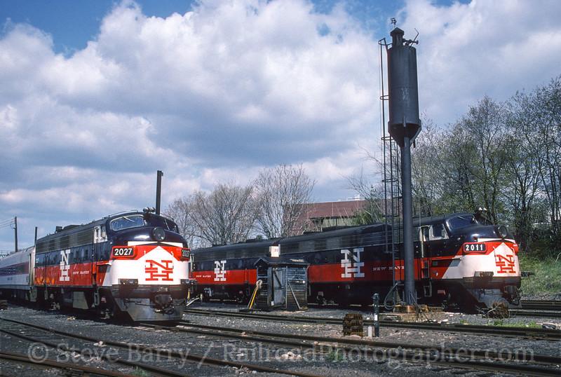Photo 3572<br /> Metro North; Danbury, Connecticut<br /> April 29, 1995
