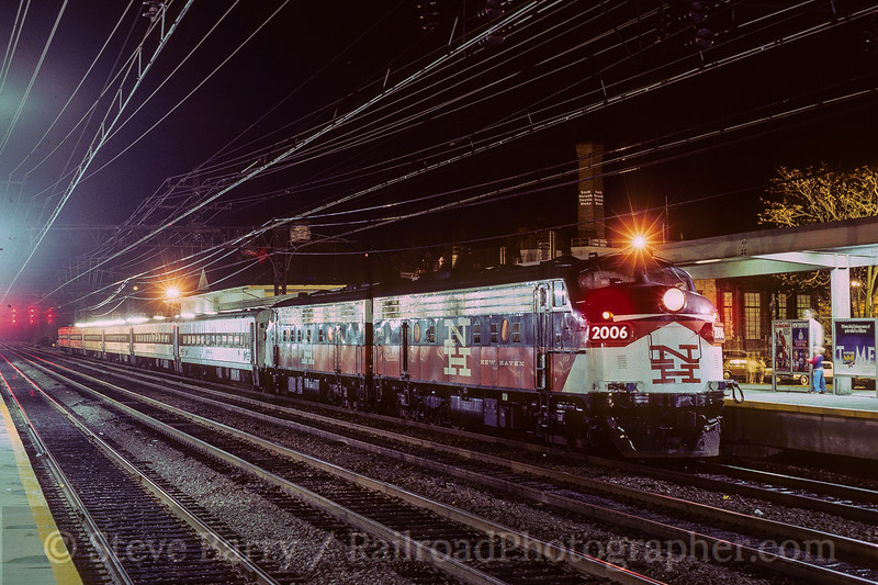Photo 3939<br /> Metro North; South Norwalk, Connecticut<br /> December 1986